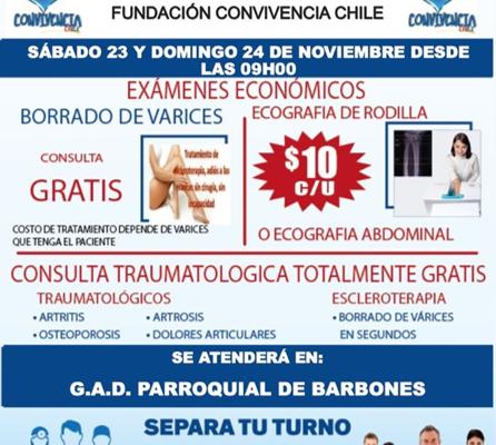 CAMPAÑA MEDICA EN NUESTRA PARROQUIA BARBONES.
